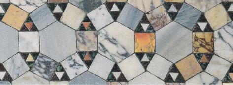 Mosaikfußboden der Kirche San Clemente, Rom